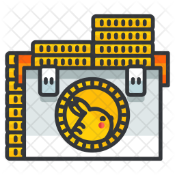 Coins Colored Outline Icon