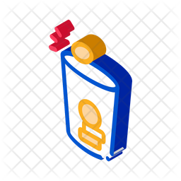 Coins Cup Isometric Icon