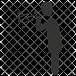 Cold Glyph Icon