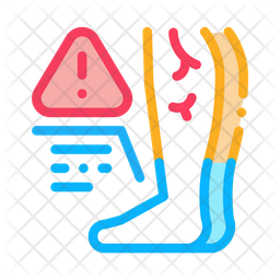 Cold Feet Colored Outline Icon