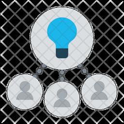 Collaborative idea Icon