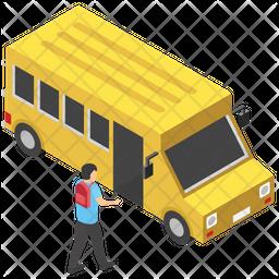 College Bus Icon