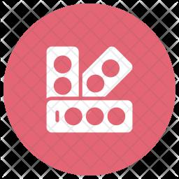 Color Palette Glyph Icon