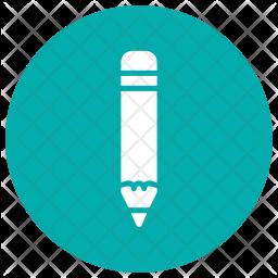 Color Pencil Glyph Icon