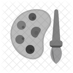 Color plate Flat Icon