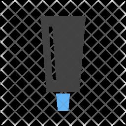 Color tube Flat Icon