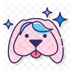 Colored Hair Extension Icon
