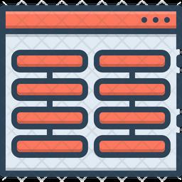 Columns Colored Outline Icon