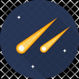 Comet Flat Icon