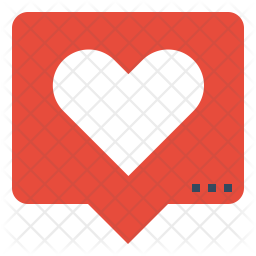 Comment on Love Flat Icon
