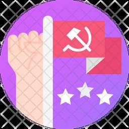 Communist Flag Icon