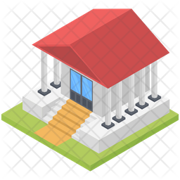 Community Hall Building Icon