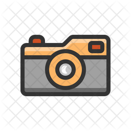 Compact camera Colored Outline Icon