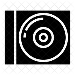 Compact Disk Glyph Icon