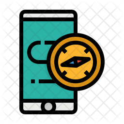 Compass Colored Outline Icon