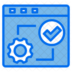 Complete Process Colored Outline Icon