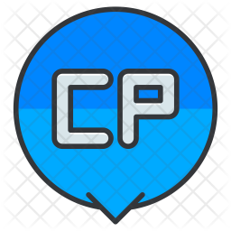 Computer Colored Outline Icon
