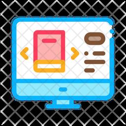 Computer Book Selection Icon