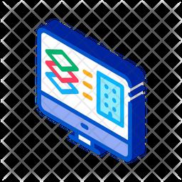 Computer Building Plan Icon