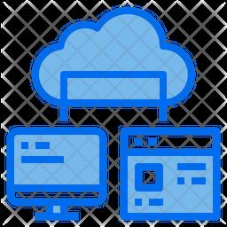 Computer Connection Dualtone Icon