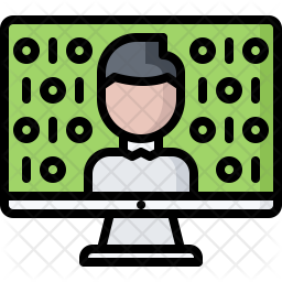 Computer learning Icon