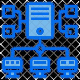 Computer Network Dualtone Icon