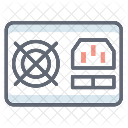 Computer Power Supply Icon