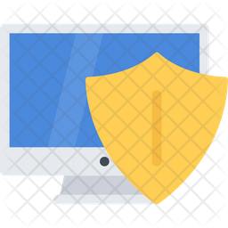 Computer Protection Flat Icon