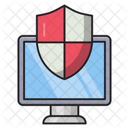 Computer Security Flat Icon