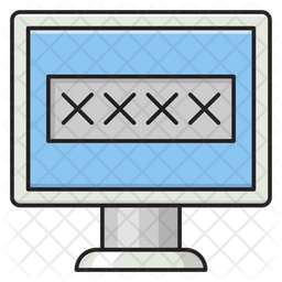 Computer Security Colored Outline Icon