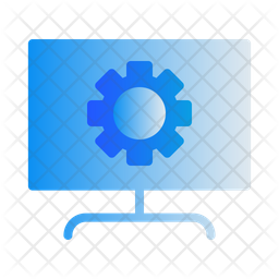 Computer Setting Gradient Icon