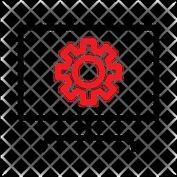 Computer Setting Line Icon
