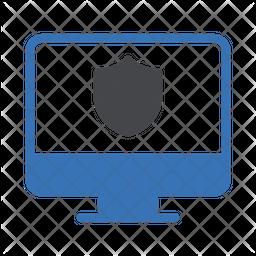 Computer Shield Dualtone Icon