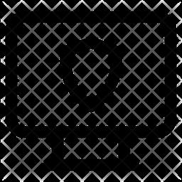 Computer Shield Line Icon