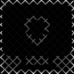 Computer Shield Glyph Icon
