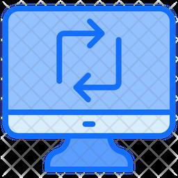 Computer Sync Icon