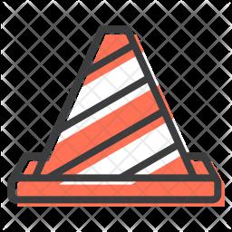Cone Colored Outline Icon