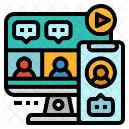 Conference Colored Outline Icon