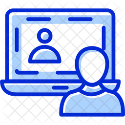 Conference Call Colored Outline Icon