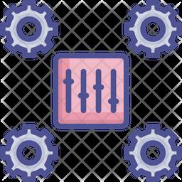 Configuration Colored Outline Icon