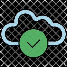 Confirm cloud Icon