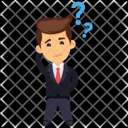 Confused Businessman Icon