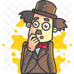 Confused Charlie Chaplin Icon