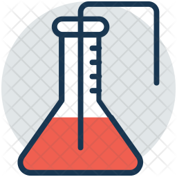 Conical flask Colored Outline Icon