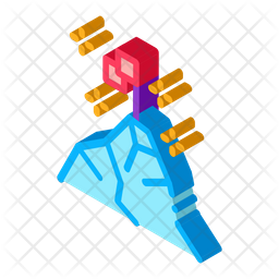 Conquering Top Mountain Isometric Icon