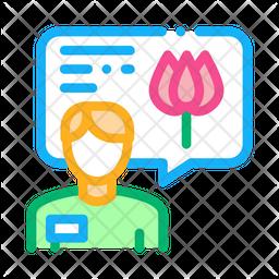 Flower Seller Icon