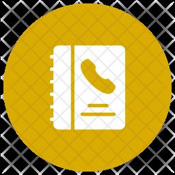 Contact Book Glyph Icon
