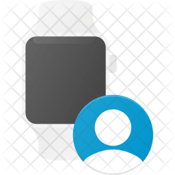 Contact synchronize in watch Flat Icon