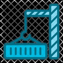Container Crane Colored Outline Icon