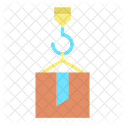 Container Delivery Flat Icon